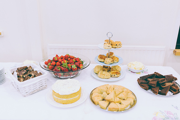 Eclectic Colourful Quirky Village Hall Wedding Afternoon Tea http://missgen.com/