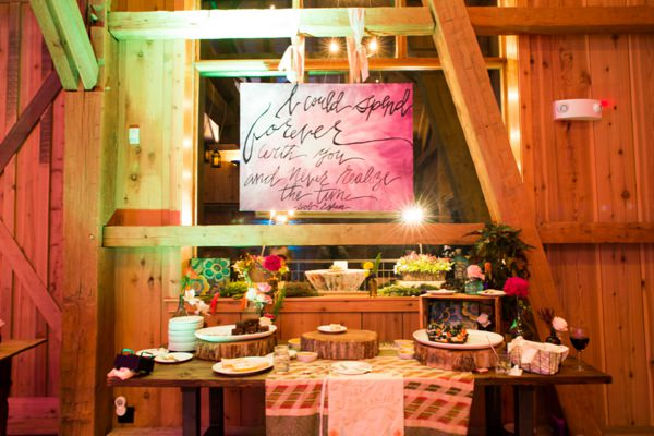 Bohemian Ranch Family Colorado Wedding Dessert Table http://fromthehipphoto.com/