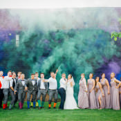 Homespun Retro Colourful Wedding