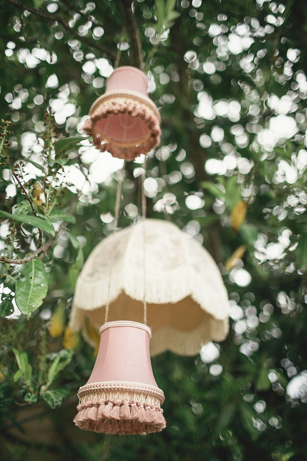 Organic Farm Stone Circle Wedding Hanging Lampshades http://www.kat-hill.com/