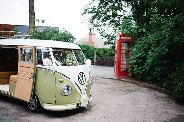 Pretty Bunting & China Wedding VW Camper http://www.danhoughphoto.com/