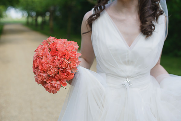 Bouquet Bride Coral & Green Rustic Wedding http://www.riamishaal.com/