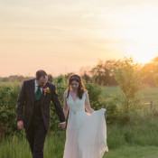 Beautiful Coral & Green Rustic Farm Wedding