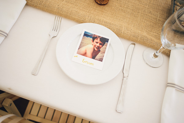 Polaroid Place Setting Wedding Name Photo http://bigbouquet.co.uk/