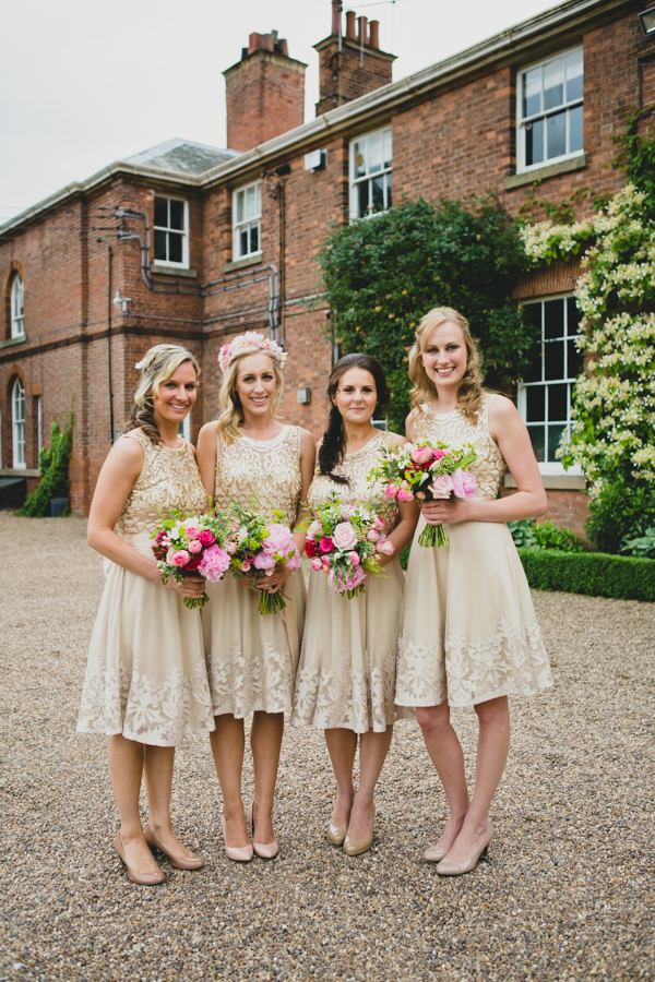 Gold Red Glam English Indian Wedding Gold Sequin Bridesmaids http://amybphotography.co.uk/