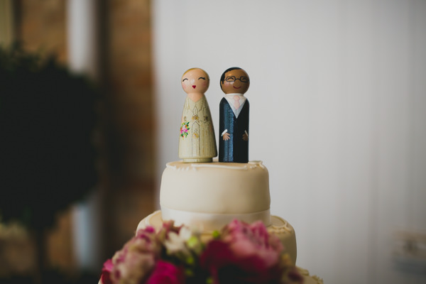 Gold Red Glam English Indian Wedding Cake Toppers Wooden Bride Groom http://amybphotography.co.uk/