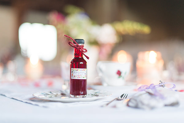 Country Folksy Pre-Raphaelite Wedding Gin Favours  http://www.georgimabee.com/