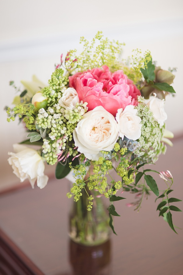 Floral Elegant London Wedding  Bridesmaid Spring Peony Bouquet http://www.georgimabee.com/