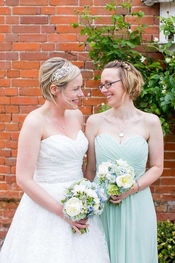 Fresh Fun Relaxed Blue & Green Wedding Bridesmaid http://www.katherineashdown.co.uk/