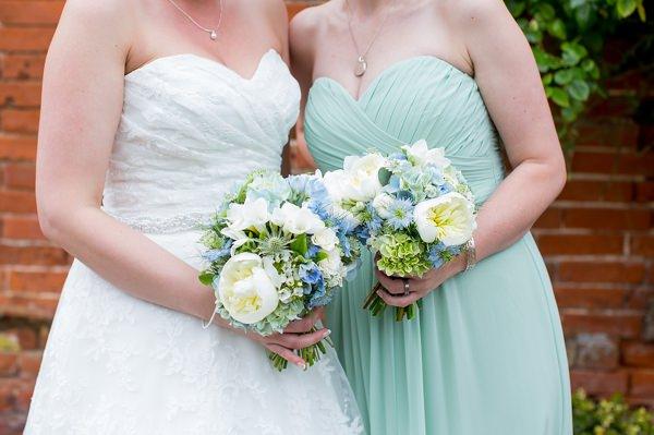 Fresh Fun Relaxed Blue & Green Wedding Bouquets Bridal Bridesmaid http://www.katherineashdown.co.uk/