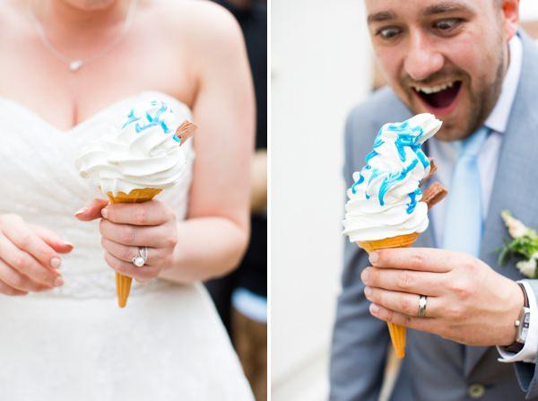 Fresh Fun Relaxed Blue & Green Wedding Ice Cream http://www.katherineashdown.co.uk/