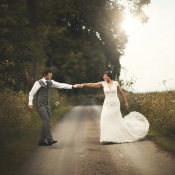 Rustic Hessian & Brown Paper Cotswolds Barn Wedding