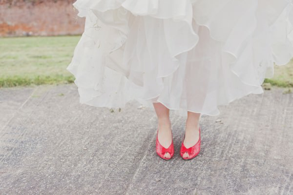 Christian Louboutin Wedding Bride Red Shoes Heels http://www.cottoncandyweddings.co.uk/