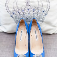 Manolo Blahnik Blue Shoes Wedding Bride http://www.victoriaphippsphotography.co.uk/