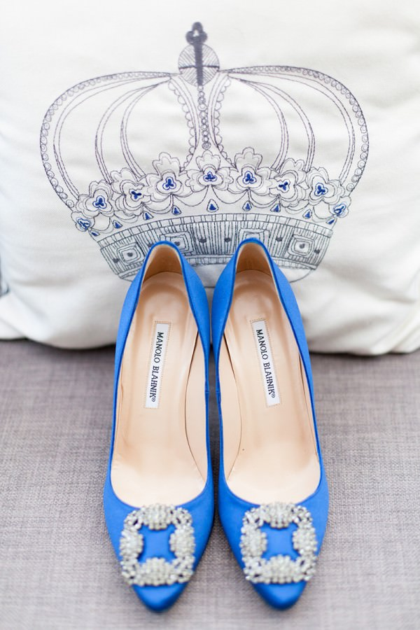 blue wedding shoes manolo blahnik