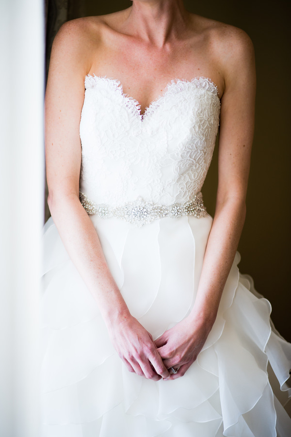 Colourful Chic Outdoor Spring Texas Wedding Ruffled Lace Dress Bride http://www.coryryan.com/