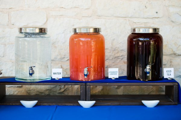 Colourful Chic Outdoor Spring Texas Wedding Drinks Table http://www.coryryan.com/