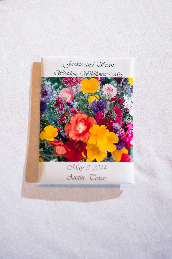 Colourful Chic Outdoor Spring Texas Wedding Seed Favours http://www.coryryan.com/