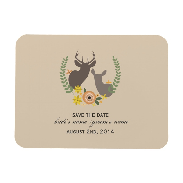 fall_wedding_floral_deer_save_the_date_premium_magnet-r