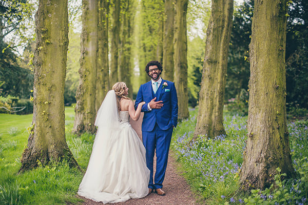 Charming Homemade Pink & Blue Wedding