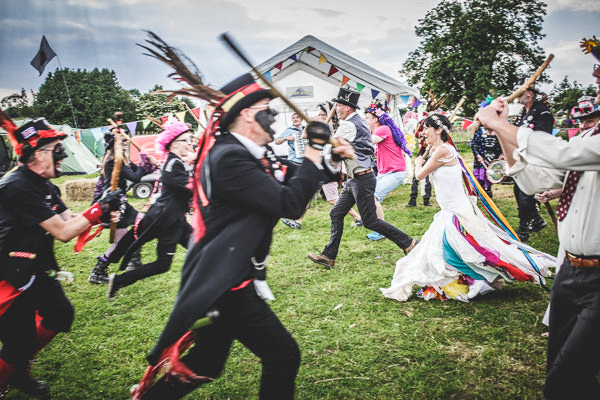 Colourful Festival Wedding Morris Dancers http://www.pixiesinthecellar.co.uk/
