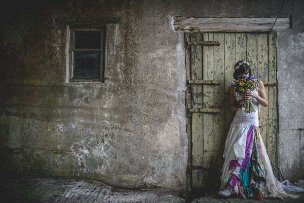 Colourful Festival Wedding Alternative Bride http://www.pixiesinthecellar.co.uk/