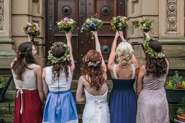 Rustic Cosy Wedding Flower Crowns Bridesmaids Bride http://www.tierneyphotography.co.uk/