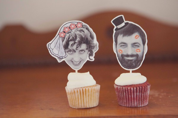 Quirky City Wedding Cupcake Topper Bride Groom http://www.philippajamesphotography.com/