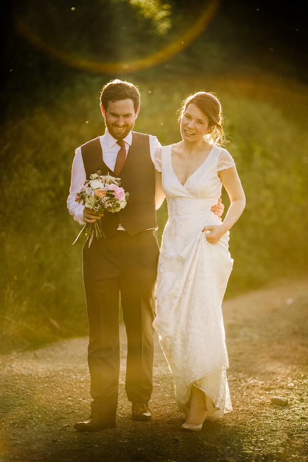Stylish & Rustic Sun Drenched Homemade Barn Wedding