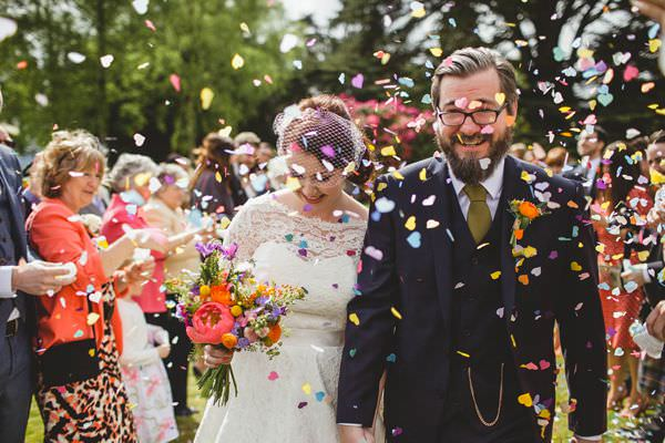 Colourful Homemade Origami & Confetti Wedding