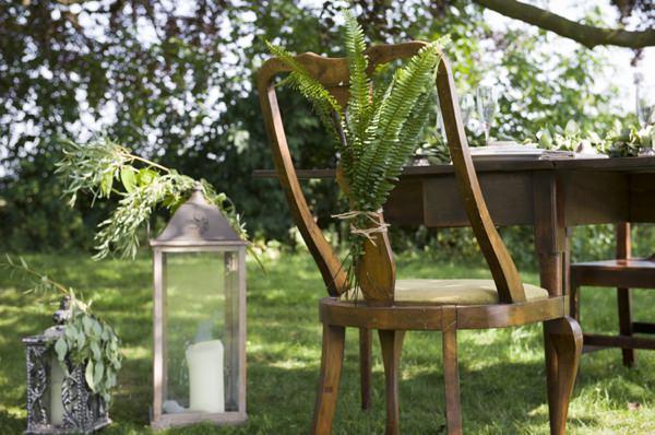 Ethereal Woodland Wedding Ideas Fern Foliage Chair Backs http://www.careysheffield.com/