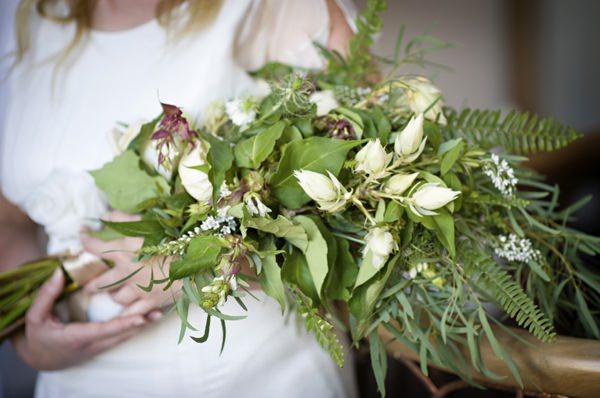 Wild Foliage Fern Bouquet Pretty Natural Bohemian Bridal Bride http://www.careysheffield.com/