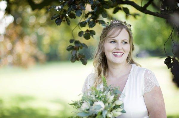 Pretty Natural Bohemian Bridal Bride http://www.careysheffield.com/
