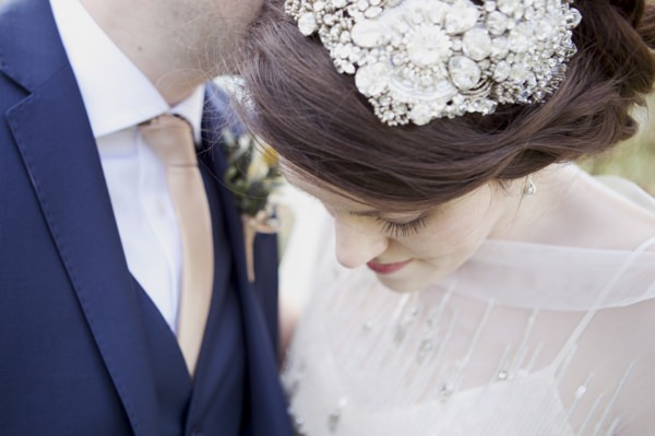 Quirky Floral Spring Wedding Jenny Packham Accessory Hair Head Bride http://www.philippajamesphotography.com/