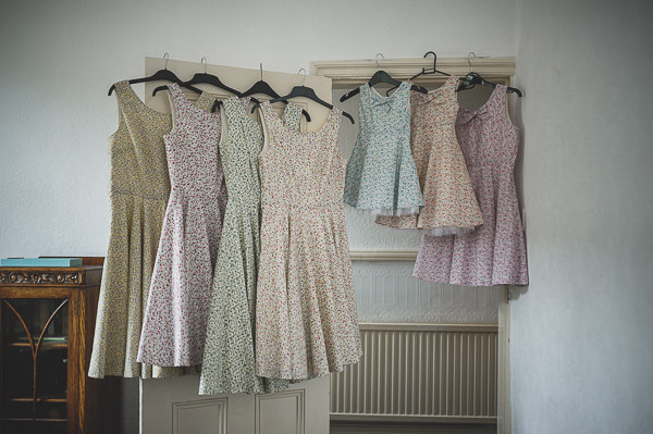 Magical Crafty Outdoorsy Village Hall Wedding Homemade Floral Bridesmaid Dresses http://www.foxleyphotography.com/