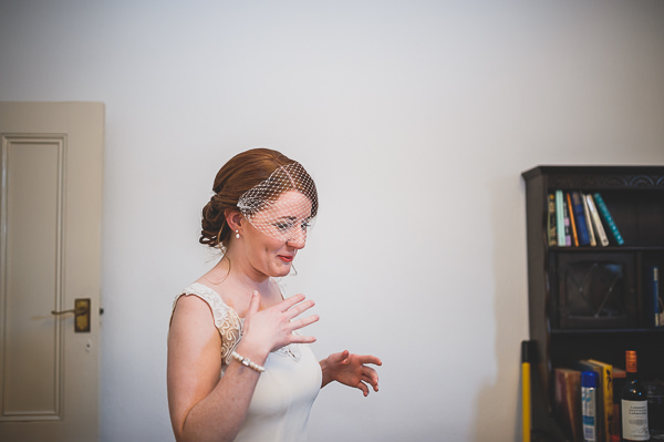 Magical Crafty Outdoorsy Village Hall Wedding Birdcage Veil Bride http://www.foxleyphotography.com/