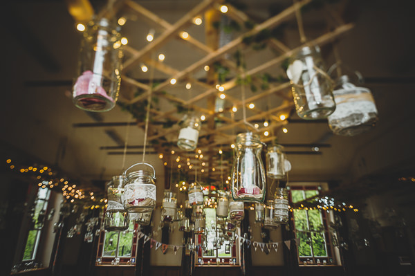 Magical Crafty Outdoorsy Village Hall Wedding Candelit Jars http://www.foxleyphotography.com/