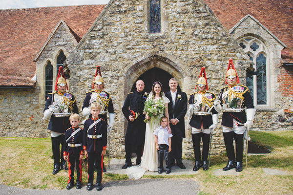 Frock Coat Military Groom Vintage Wildflower Meadow Wedding http://annamorganphotography.co.uk/