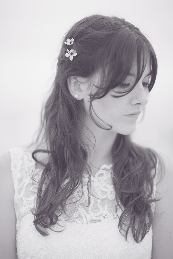Quirky Nautical Warship Wedding Fringe Bangs Bride Hair Flowers Style http://www.nataliejweddings.com/