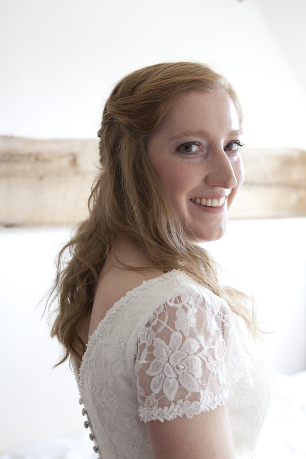 Crafty Colourful Country Wedding Natural Red Hair Bride Curled Wavy Plaited  http://matildarosephotography.com/