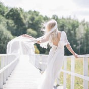 Minna. Eco Luxe Whimsical Wedding Dresses & 15% off for WWW readers.