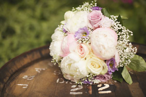 Pretty Pastel Romantic DIY Wedding Rose Peony Baby Breath Bouquet Bridal Pink http://www.milkbottlephotography.co.uk/