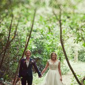 Relaxed Homemade Outdoor Woodland Wedding