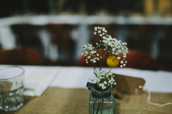 Quirky Chilled Party Wedding Jar Flowers http://sdphotography.co.uk/