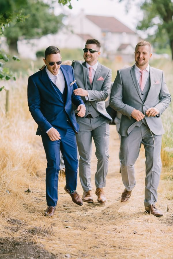 Stylish White DIY Floral Filled Barn Wedding Reiss Suit Groom http://www.chrisbarberphotography.co.uk/