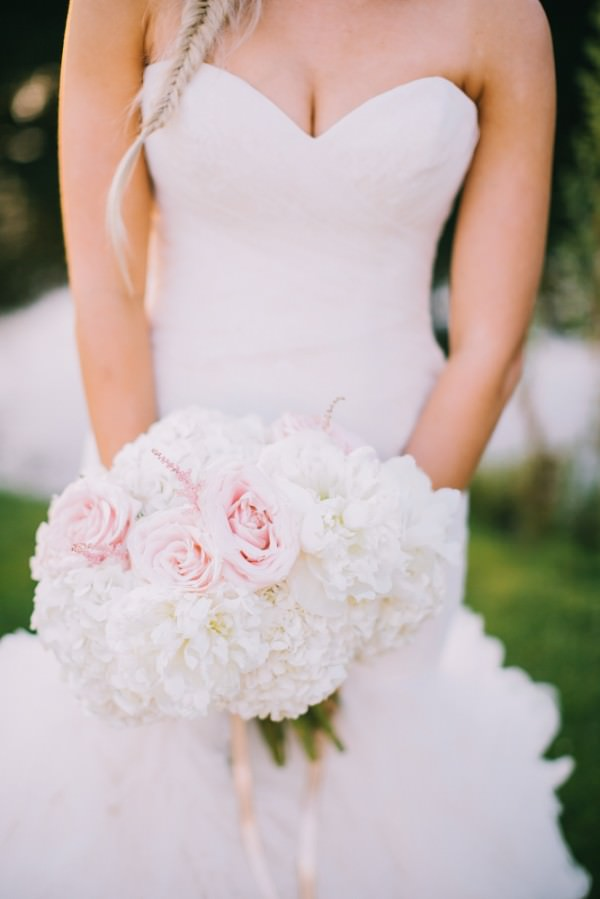 Peonies, Roses, Hydrangea and Astilbe Bridal Bouquet Stylish White DIY Floral Filled Barn Wedding http://www.chrisbarberphotography.co.uk/