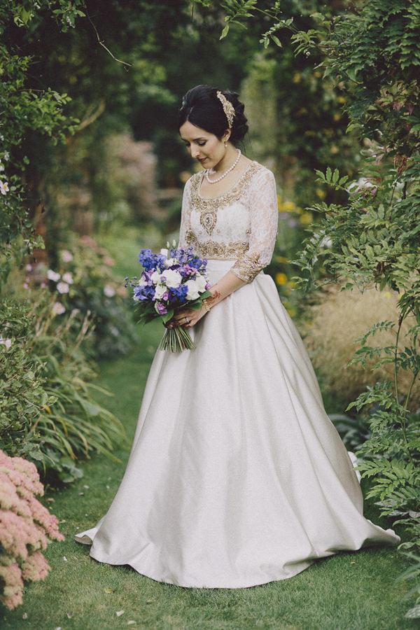 Secret Garden: Beautiful English Indian Multicultural Wedding