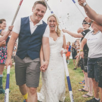 Camping Hockey Field Wedding http://www.milliebenbowphotography.com/