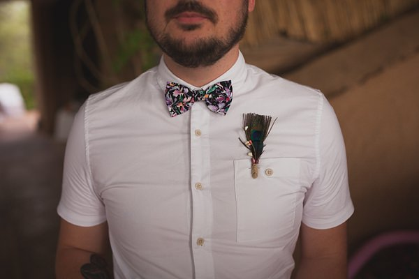 Chilled Colourful Marrakech Wedding Bow Tie Groom http://www.sallytphotography.com/