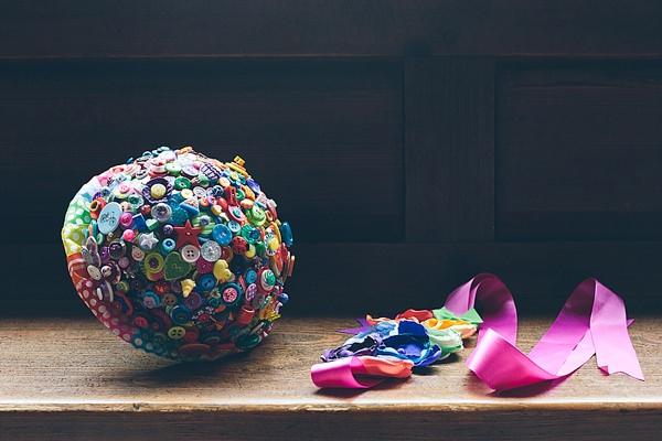 Creative Fun Rainbow Wedding Button Bridal Bouquet http://www.christinewehrmeier.com/